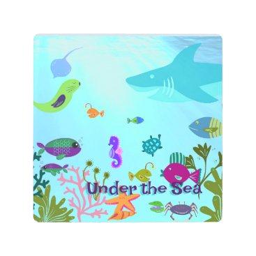 Art Themed Under the Sea Metal Print