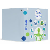 Under the Sea Nautical Baby Photo Album Scrapbook 3 Ring Binder