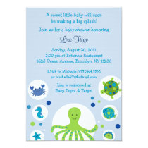 Under the Sea Nautical Baby Shower Invitations