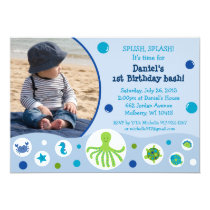 Under the Sea Nautical Birthday Invitations