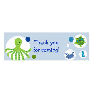 Under the Sea Nautical Party Favor Gift Tags Double-Sided Mini Business Cards (Pack Of 20)