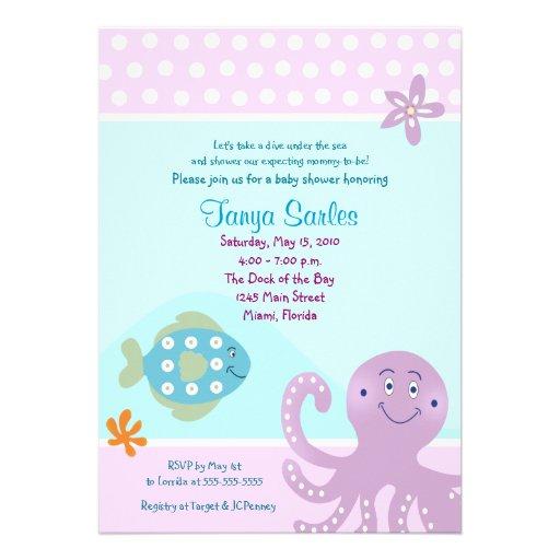 Under the Sea Ocean 5x7 Baby Shower Invitation