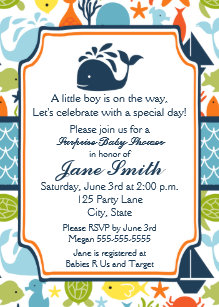 Under the sea baby shower invitations zazzle under the sea ocean animals baby shower invitation filmwisefo
