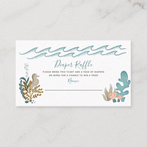 Under the Sea Ocean Animals Shower Diaper Raffle Business Card