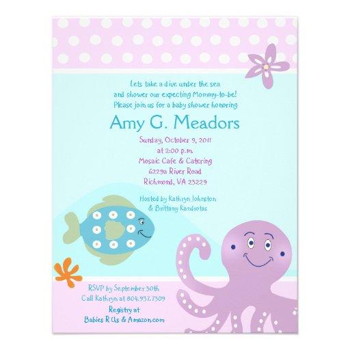under the sea ocean baby shower invitation x 5 5 invitation