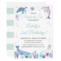 Under the Sea Ocean Birthday Party Invitation