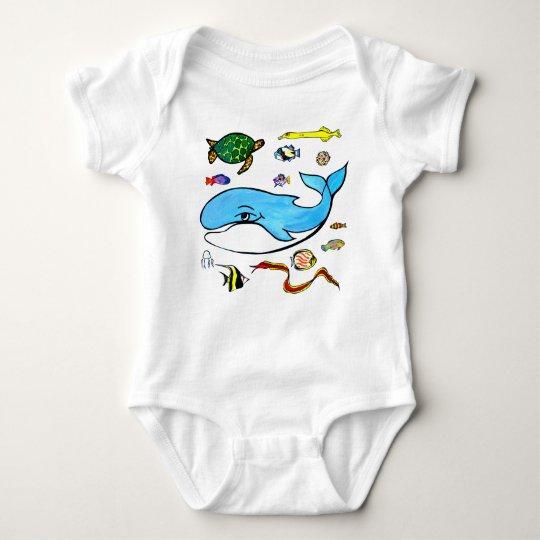 Under the Sea- Ocean Life Baby Bodysuit