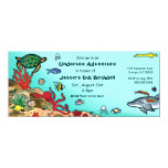 "Under the Sea- Ocean Life Invitation 4"" X 9.25"" Invitation Card"