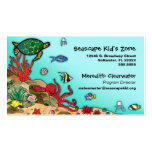 Under the Sea- Ocean Life Profile Card Double-Sided Standard Business Cards (Pack Of 100)