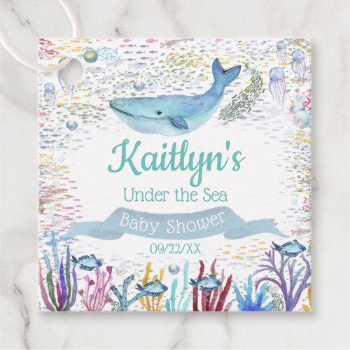 Under The Sea  Ocean Themed Baby Shower Favor Tags