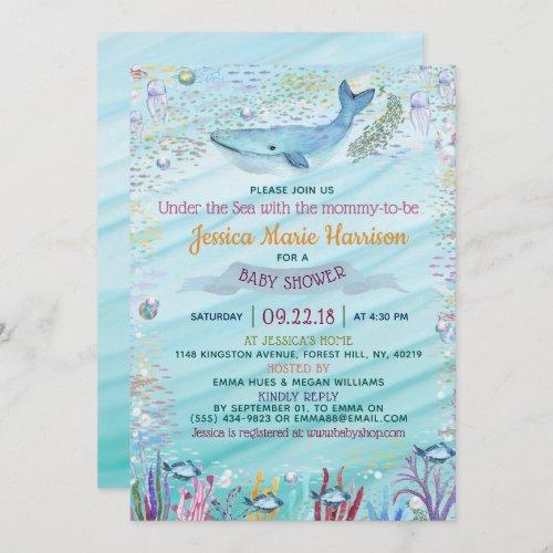 Under The Sea  Ocean Themed Baby Shower Invitation