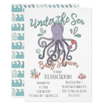 Under the Sea Octopus Baby Shower Card