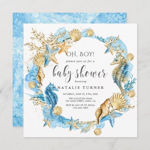 Under the Sea  Oh Boy Baby Shower Invitation