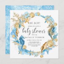 Under the Sea | Oh Boy Baby Shower Invitation