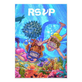 Under the Sea Party RSVP Card