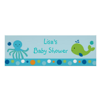Under the Sea Personalized Banner Poster