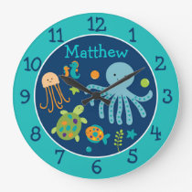 Under the Sea Personalized Clock