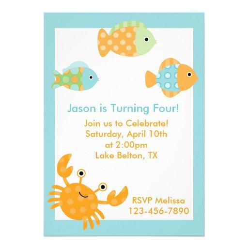 Under the Sea Personalized Invitation
