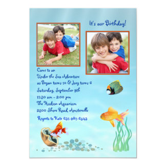Under the Sea - Photo Invitation