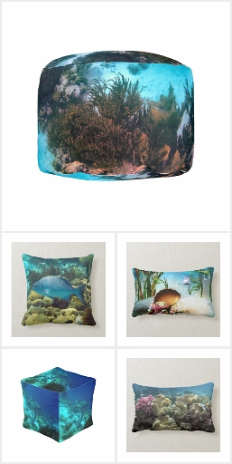 Under the Sea Pillows and Poufs