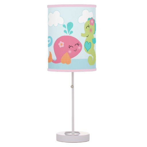 under the sea pink girl baby nursery lamp zazzle. Black Bedroom Furniture Sets. Home Design Ideas