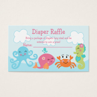 Under the Sea/Pink Whale Diaper Raffle Tickets