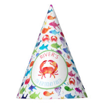 Under The Sea Rainbow Fish Birthday Baby Shower Party Hat