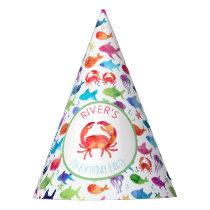 Under The Sea Rainbow Fish Birthday Baby Shower Party Hat