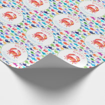 Under The Sea Rainbow Fish Birthday Baby Shower Wrapping Paper