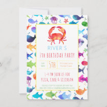 Under The Sea Rainbow Fish Birthday Party Crab