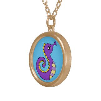 Under the Sea Round Pendant Necklace