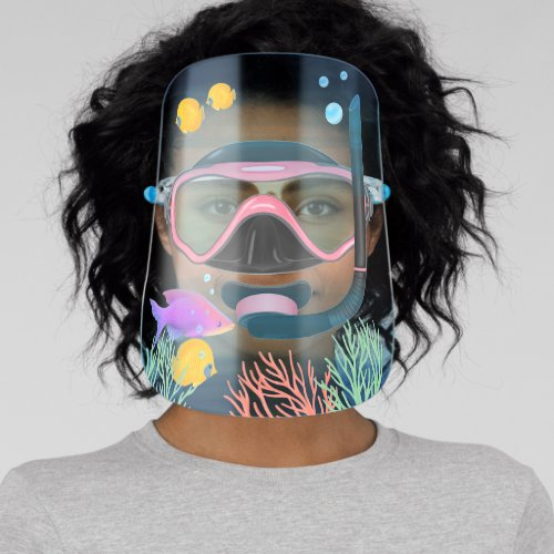 Under The Sea Scuba Snorkelling Goggle Aquarium Face Shield