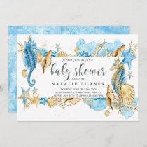 Under the Sea Seahorse Baby Shower Invitation