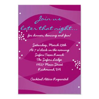 Under the Sea Seahorse Bat Bar Mitzvah Party Card Custom Announcement