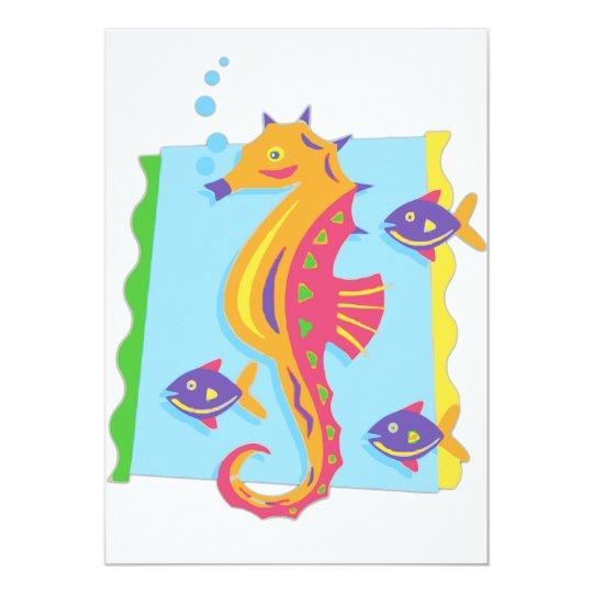 Under the Sea seahorse Card