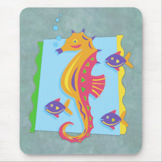 Under the Sea seahorse Mouse Pad