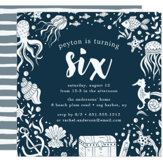Under the Sea | Sixth Birthday Party Invitation