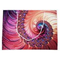 Under the Sea Spiral Fractal Large Gift Bag