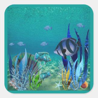 Under the Sea Square Sticker