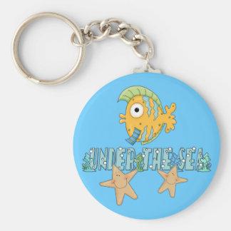 Under The Sea Star Fish Keychain