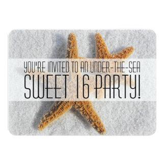 "Under the Sea Sweet Sixteen Party Invitations 4.5"" X 6.25"" Invitation Card"