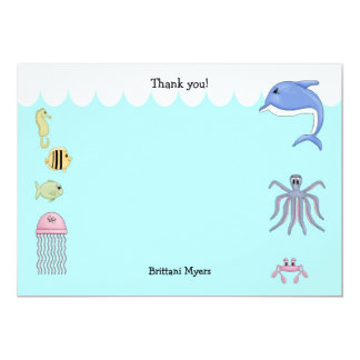 Under the Sea Thank You Notes Stationery Card