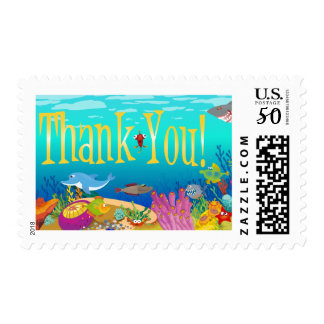Under the Sea Thank You Postage Stamp