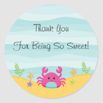 Under The Sea Thank You Sticker