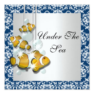 Under The Sea Theme party Card
