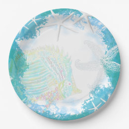 Under the Sea Tropical Themed Paper Plate