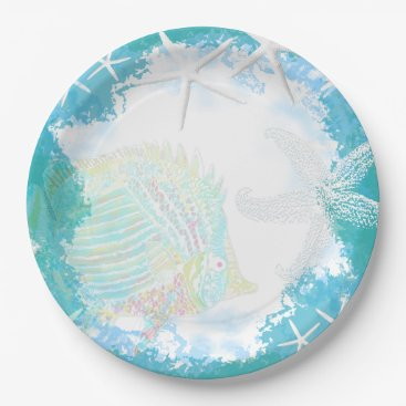 sandpiperWedding Under the Sea Tropical Themed Paper Plate