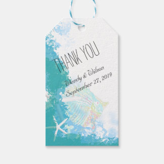 Under the Sea Turquoise Thank You Favor Gift Tags