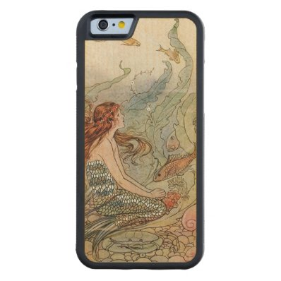 Under the Sea Vintage Mermaid Carved® Maple iPhone 6 Bumper Case