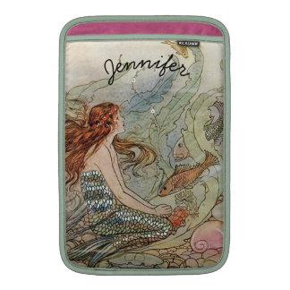Under the Sea Vintage Mermaid Personalized MacBook Sleeve